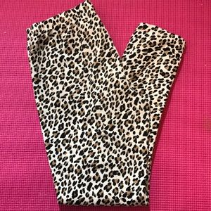 - Place animal print leggings.